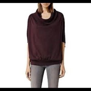 All Saints Elis Cowl - Burgundy